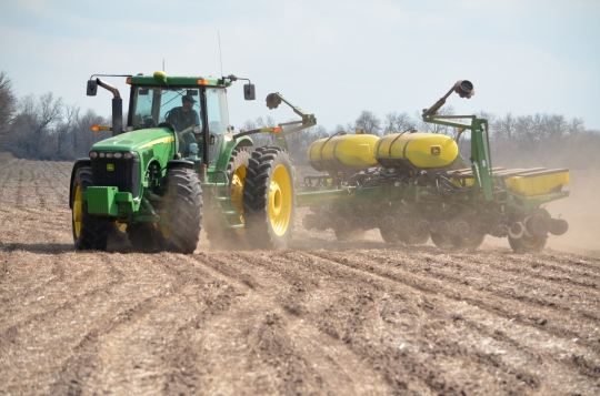 It's time to plant the corn in central Kansas!