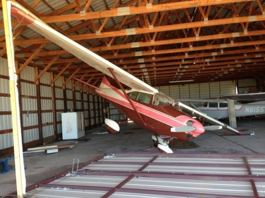 Rearranged planes. (Photo by Jeff Smith, S & S Farms)