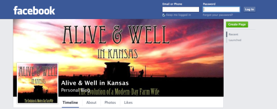 "Be sure to ""like"" the page for updates"